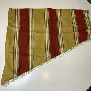 waverly curtain valance red gold green beaded trim
